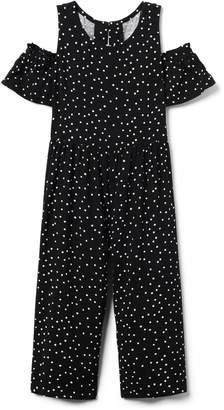 Crazy 8 Crazy8 Dot Cold-Shoulder Jumpsuit