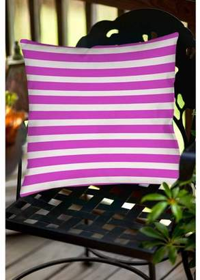 Thumbprintz Bright Stripes Pink Indoor/Outdoor Pillow