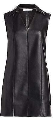 Alexander Wang Women's Faux Leather Sleeveless Dress