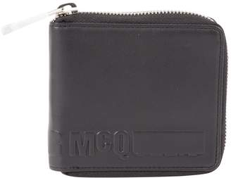 McQ Black Leather Wallets