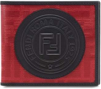 Fendi glazed jacquard billfold wallet
