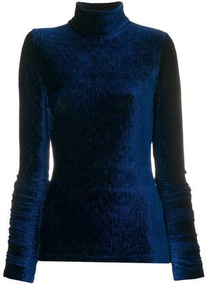 MM6 MAISON MARGIELA textured velvet polo neck