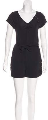 Marc by Marc Jacobs Belted Short Sleeve Romper