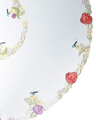 "Sferra Springtime 90"" Round Tablecloth & 12 Napkins"
