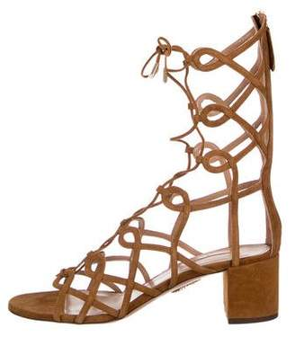 Aquazzura Suede Mumbai Gladiator Sandals w/ Tags