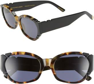 Cat Eye Pared Diamonds & Pearls 54mm Square Sunglasses