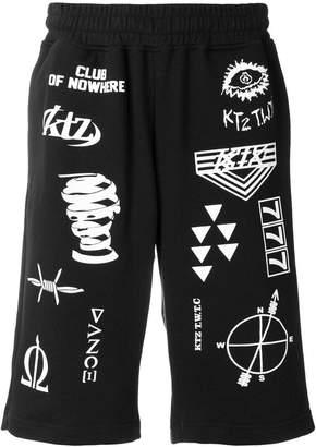 Kokon To Zai multi-stamp track shorts