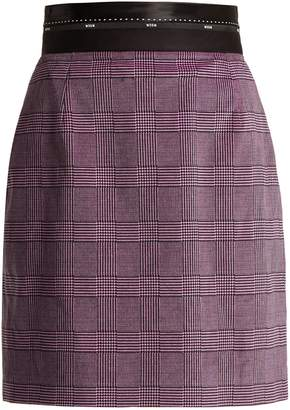 MSGM Prince of Wales check stretch-cotton velvet skirt