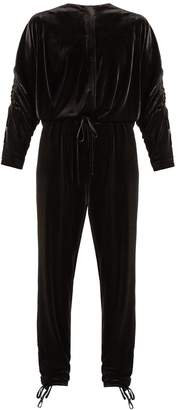 Preen Line Ruby stretch-velvet jumpsuit