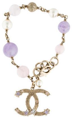 Chanel Amethyst, Quartz & Rose Quartz Bead Bracelet $795 thestylecure.com