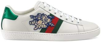 Gucci Women's Ace sneaker with Three Little Pigs