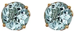QVC 2.00 ct tw Aquamarine Fancy Gemstone Stud Earri