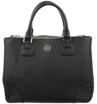 Tory Burch Woven Robinson Double Zip Tote w/ Tags