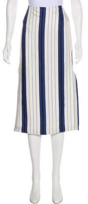 Protagonist Silk Striped Skirt