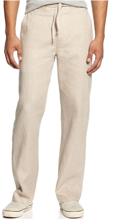 Sean John Pants, Drawstring Linen Pants