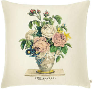 John Derian Bouquet Parchment Decorative Pillow