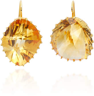 Renee Lewis 18K Gold Citrine Earrings