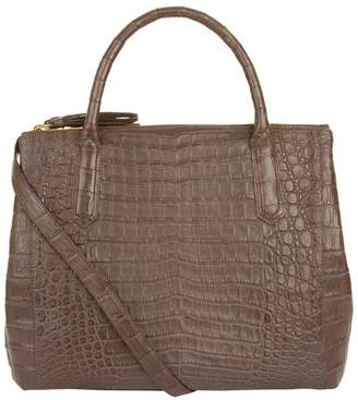 Nancy Gonzalez Nix Crocodile Double Zip Tote Bag