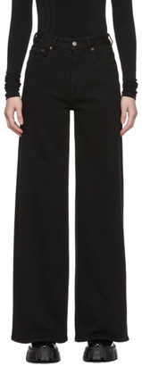 MM6 MAISON MARGIELA Black Wide Jeans
