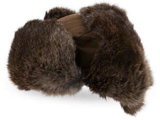 Crown Cap Real Rabbit Fur Trapper Hat