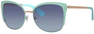 Kate Spade New York Genice Square Oversize Half-Rim Sunglasses $155 thestylecure.com