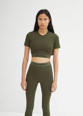 Paco Rabanne Short Sleeve Cropped Top