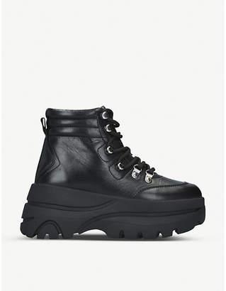 Steve Madden Husky leather biker boots