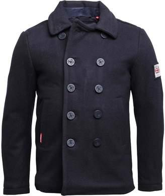 Superdry Mens Rookie Pea Coat Navy