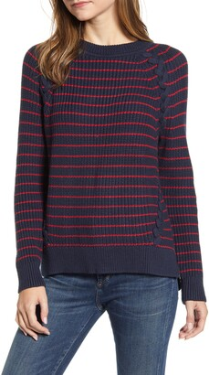 Vineyard Vines Break Stripe Lattice Sweater
