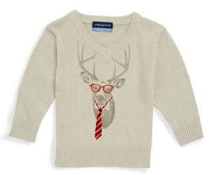 Andy & Evan Baby Girl's Reindeer Cotton Sweater