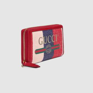 Gucci Print zip around wallet