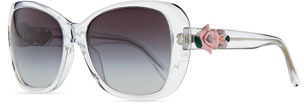 D&G Rose-Temple Sunglasses, Crystal
