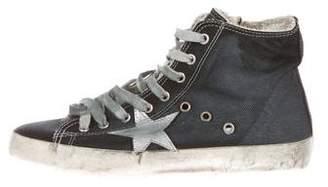 Golden Goose Francy Denim Sneakers w/ Tags