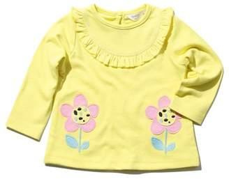 M&Co Flower applique frill top