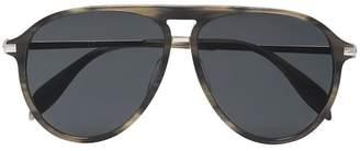 Alexander McQueen Brown aviator sunglasses