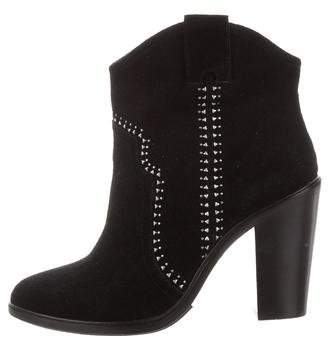 Joie Embellished Suede Ankle Boots