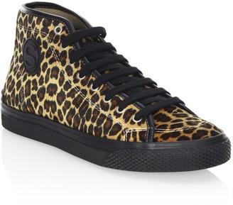 Stella McCartney Leopard Print High-Top Sneakers