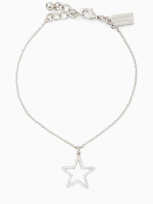 Kate Spade Scrunched Scallops Pave Star Bracelet, Clear/Silver