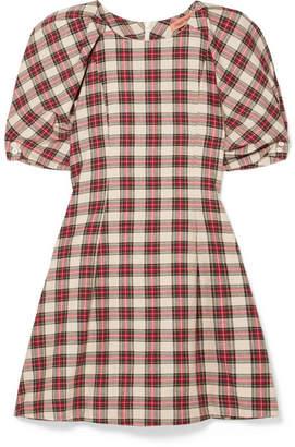 9ffab3f7230 Maggie Marilyn Fashionably Early Plaid Cotton Mini Dress - Red