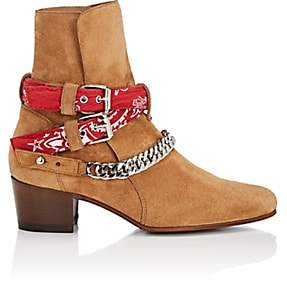 Amiri Women's Bandana-Strap Suede Jodhpur Boots - Brown