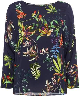 Oui Tropical floral top