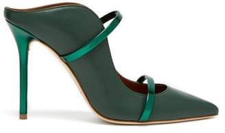 Malone Souliers By Roy Luwolt - Maureen Leather Mules - Womens - Green Multi