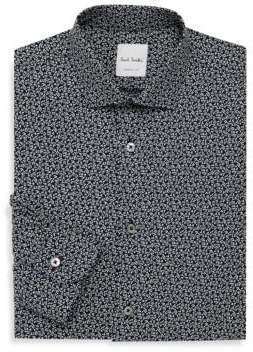 Paul Smith Printed Fitted Cotton Shirt