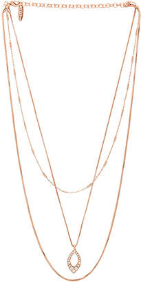 Luv Aj The Pave Marquise Charm Necklace
