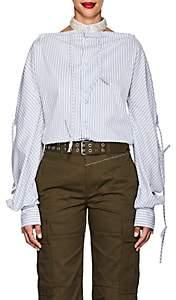 BLINDNESS Women's Embellished-Collar Striped Cotton-Blend Blouse - Stripe