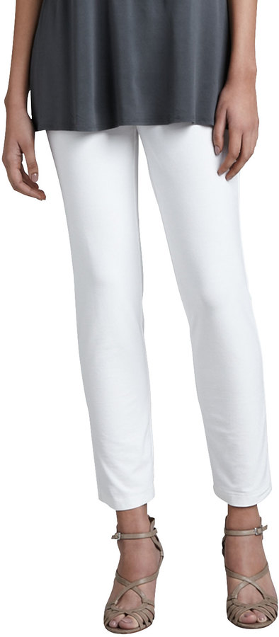 Eileen Fisher Slim Ankle Pants, White