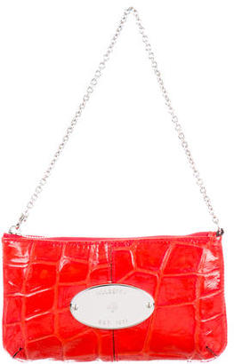 Mulberry Embossed Leather Pochette $195 thestylecure.com