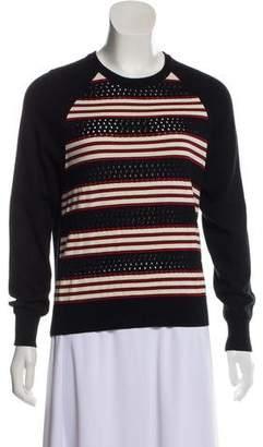 See by Chloe Rib Knit Striped Sweatshirt