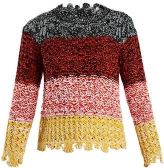 Sonia Rykiel Colour Block Textured Knit Sweater - Womens - Multi