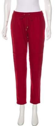 Cacharel Virgin Wool Mid-Rise Pants Red Virgin Wool Mid-Rise Pants